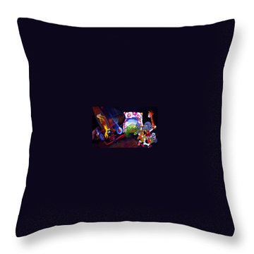 Throw Pillow featuring the painting Watch With Mother by Charles Stuart