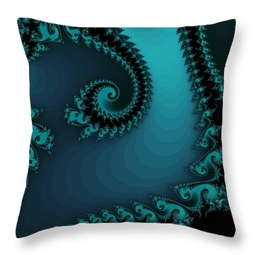 Throw Pillow featuring the digital art Watchers On The Chalcedony Slide by Elizabeth McTaggart