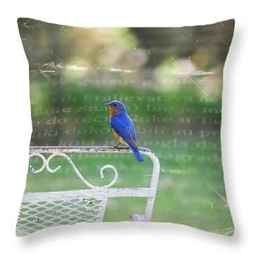 Watchful Bird Throw Pillow