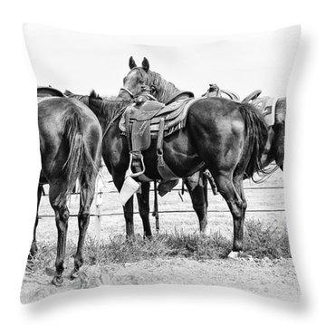 Watching And Waiting Throw Pillow by Karen Slagle