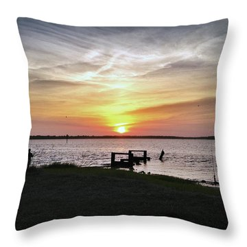 Throw Pillow featuring the photograph Watching And Waiting by Phil Mancuso