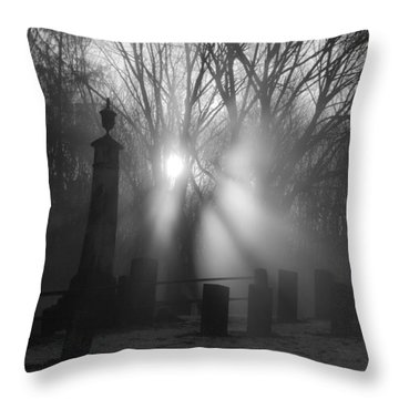 Watching Over Bw Throw Pillow by Karol Livote