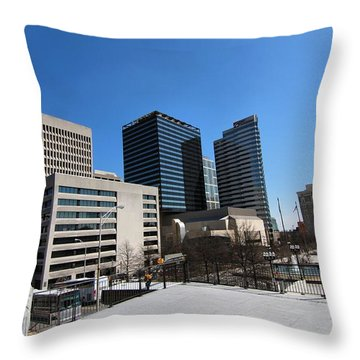Watching Over Nashville Throw Pillow by Dan Sproul