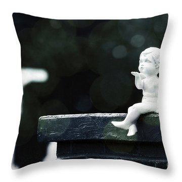 Watching Over Them Throw Pillow by Trish Mistric