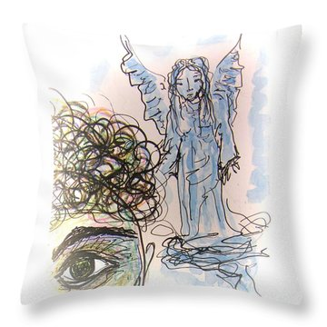 Watching Over You Throw Pillow by Mimulux patricia no No