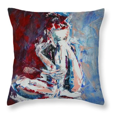 Watching Stars Without You Throw Pillow