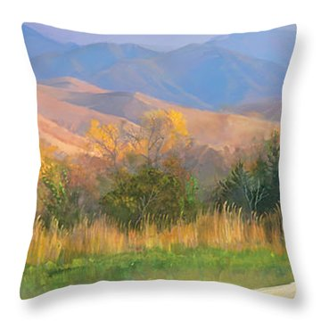 Watching The Field  Throw Pillow by Rob Corsetti