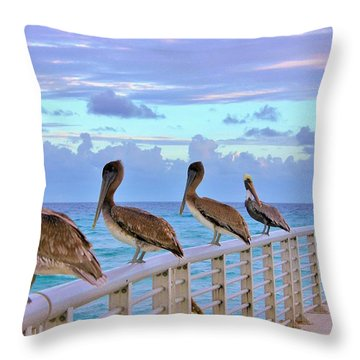 Watching The Ocean Throw Pillow