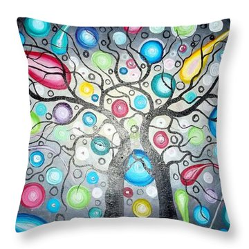 Watching The Shooting Stars Throw Pillow