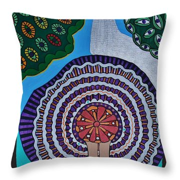 Watching The Show Throw Pillow by Barbara St Jean