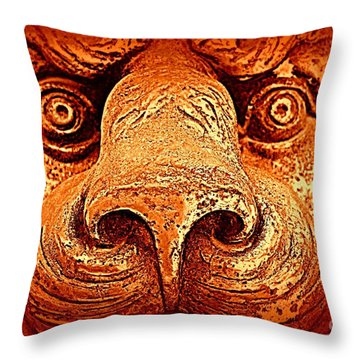 Watching You Throw Pillow by Clare Bevan