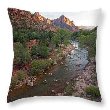 Watchman Sunset Throw Pillow