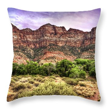 Throw Pillow featuring the photograph Watchman Trail - Zion by Tammy Wetzel
