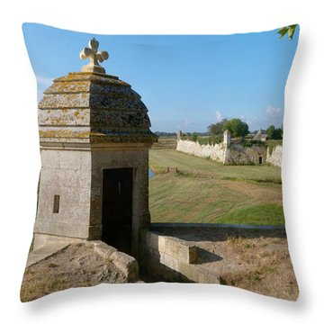 Watchtower Of Fortifications Of Vauban Throw Pillow
