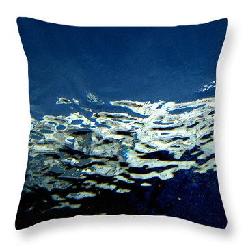 Throw Pillow featuring the photograph Water Abstract 3 by Mary Bedy