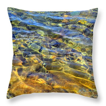 Water Abstract Throw Pillow