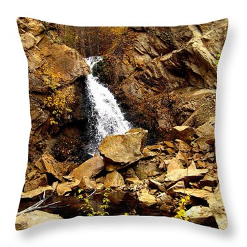 Throw Pillow featuring the photograph Water Always Gets Through by Kathy Bassett