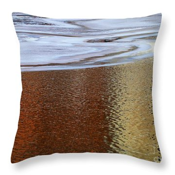 Water And Ice 2 Throw Pillow