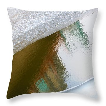 Water And Ice 4 Throw Pillow
