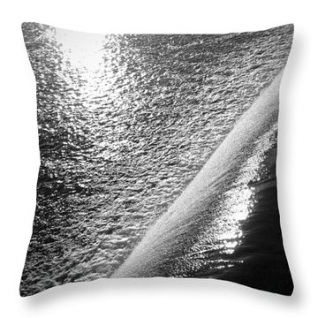 Throw Pillow featuring the photograph Water And Light by Photographic Arts And Design Studio