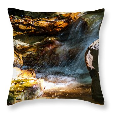 Water And Rocks Throw Pillow