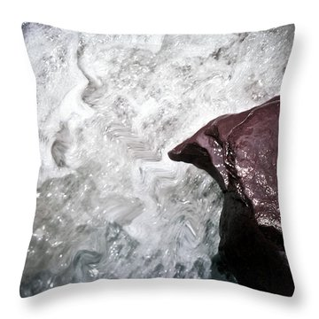 Water And The Rock Throw Pillow