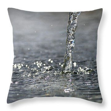 Water Beam Splashing Throw Pillow