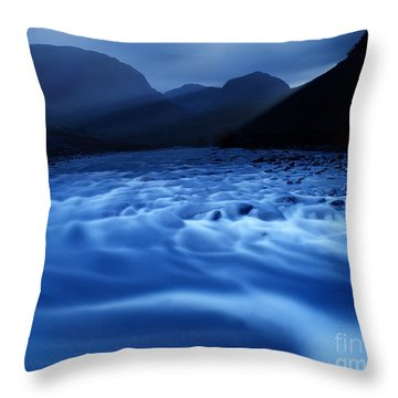 Water Blues Throw Pillow