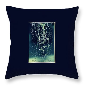 Throw Pillow featuring the photograph Water Blues by Marija Djedovic