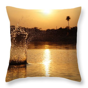 Water Bomb Throw Pillow by Utkarsh Solanki