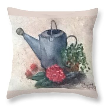 Water Can Throw Pillow by Catherine Swerediuk
