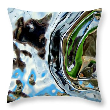 Water Captivates Throw Pillow