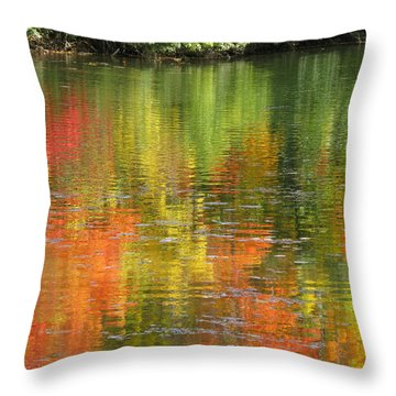 Throw Pillow featuring the photograph Water Colors by Ann Horn