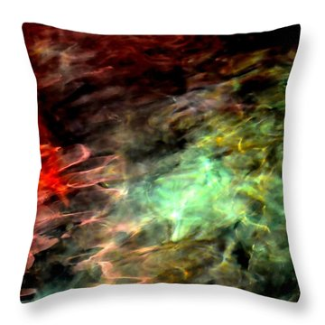Throw Pillow featuring the photograph Water Colors by Deena Stoddard