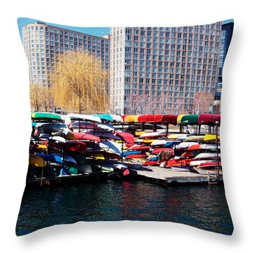 Water Colours Throw Pillow by Nicky Jameson