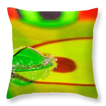 Throw Pillow featuring the photograph Water Crown by Peter Lakomy