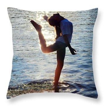 Water Dancer Throw Pillow