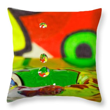 Throw Pillow featuring the photograph Water Dew by Peter Lakomy
