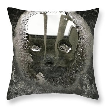 Water Drawing Throw Pillow