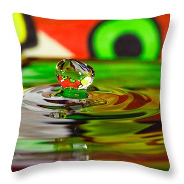 Throw Pillow featuring the photograph Water Drop by Peter Lakomy