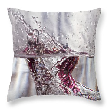 Water Drops Abstract  Throw Pillow by Stelios Kleanthous