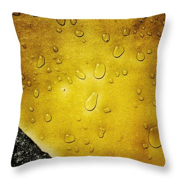 Water Drops Throw Pillow