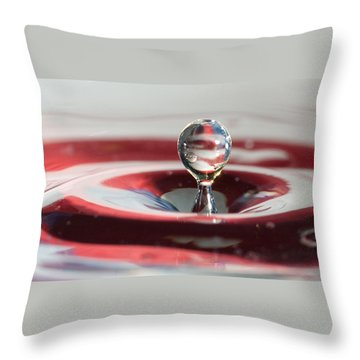 Throw Pillow featuring the photograph Water Drops Jumping by Jeff Folger