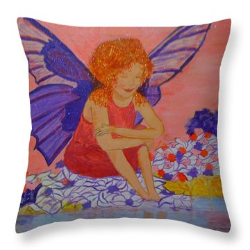 Water Fairy Throw Pillow