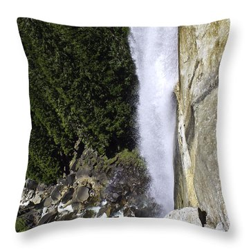 Throw Pillow featuring the photograph Water Fall by Brian Williamson