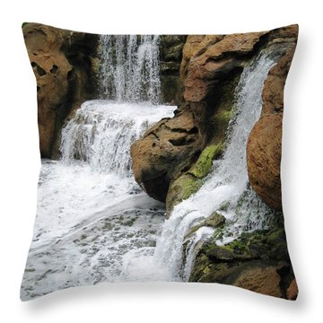 Throw Pillow featuring the photograph Water Fall by Judy Palkimas