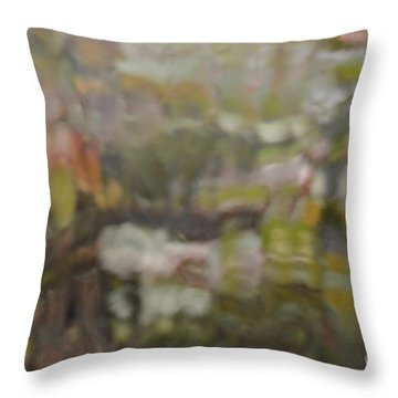 Water Falling Throw Pillow by Tim Good