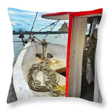Water Festival  Beaufort South Carolina  Throw Pillow