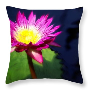 Water Flower Throw Pillow by Marty Koch