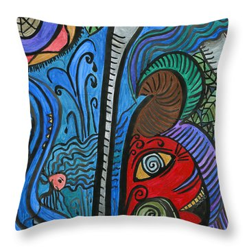 Water For Elephant Throw Pillow